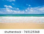 on a beach shore landscape  | Shutterstock . vector #765125368