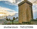historic defensive tower in... | Shutterstock . vector #765125386