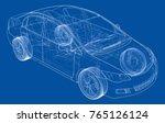 concept car. vector rendering... | Shutterstock .eps vector #765126124