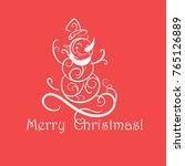 funny snowman christmas card | Shutterstock .eps vector #765126889