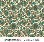 seamless antique floral pattern | Shutterstock . vector #765127438