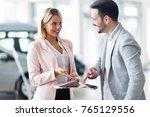 professional salesperson... | Shutterstock . vector #765129556