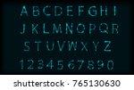 neon abc letters symbol typeset.... | Shutterstock .eps vector #765130630