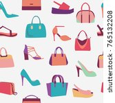 collection of fashion women... | Shutterstock .eps vector #765132208