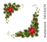 christmas decorations with... | Shutterstock .eps vector #765132274