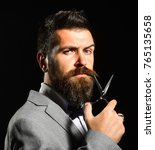 front view of a bearded... | Shutterstock . vector #765135658