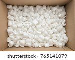 box packaging with polystyrene... | Shutterstock . vector #765141079