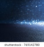 blue glitter lights christmas... | Shutterstock . vector #765142780