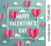 valentine s day invitation card ...   Shutterstock .eps vector #765148150