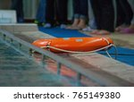 ensuring safety in swimming... | Shutterstock . vector #765149380