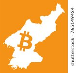 north korea map with bitcoin... | Shutterstock .eps vector #765149434