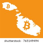 malta map with bitcoin crypto... | Shutterstock .eps vector #765149494