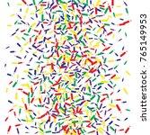 vector confetti background... | Shutterstock .eps vector #765149953