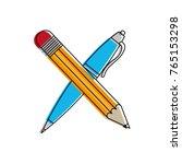 pencil and pen design | Shutterstock .eps vector #765153298