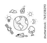 life on earth illustration...   Shutterstock .eps vector #765158293