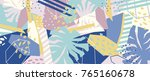 abstract floral elements paper... | Shutterstock .eps vector #765160678