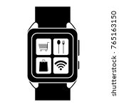 isolated smartwatch design | Shutterstock .eps vector #765163150