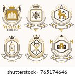 set of vector vintage elements  ...   Shutterstock .eps vector #765174646