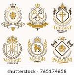 set of vector vintage elements  ... | Shutterstock .eps vector #765174658