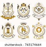 set of vector vintage elements  ... | Shutterstock .eps vector #765174664