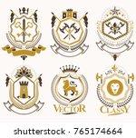 set of vector vintage elements  ... | Shutterstock .eps vector #765174664