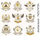 vector classy heraldic coat of... | Shutterstock .eps vector #765174724