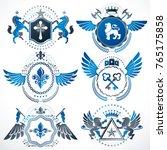 vector classy heraldic coat of... | Shutterstock .eps vector #765175858
