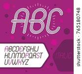 vector cool capital alphabet... | Shutterstock .eps vector #765180748