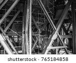 black and white photo iron line ...
