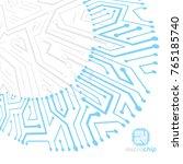 futuristic cybernetic scheme ...   Shutterstock .eps vector #765185740