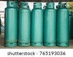 lpg gas bottle stack ready for... | Shutterstock . vector #765193036