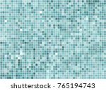 turquoise squares with... | Shutterstock . vector #765194743