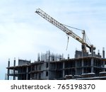 sky above building crane at... | Shutterstock . vector #765198370