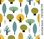 scandinavian style trees... | Shutterstock .eps vector #765198739
