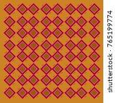 design blocks gold  red ethno... | Shutterstock . vector #765199774