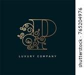 vector graphic elegant logotype ... | Shutterstock .eps vector #765204976