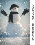 christmas new year snow concept ... | Shutterstock . vector #765205420