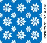 snowflakes seamless pattern.... | Shutterstock .eps vector #765208540