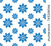 snowflakes seamless pattern.... | Shutterstock .eps vector #765208546