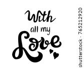 With All My Love  Lettering...