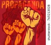 propaganda poster style... | Shutterstock .eps vector #765213028