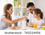 family  eating and people... | Shutterstock . vector #765214456
