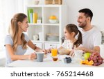 family  eating and people...   Shutterstock . vector #765214468