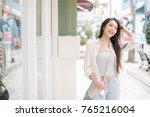 summer sunny lifestyle fashion... | Shutterstock . vector #765216004