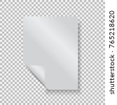empty paper blank sheet a4 with ... | Shutterstock .eps vector #765218620