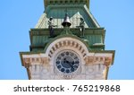 Small photo of Trieste, Italy. Architects of the city tower. Long focal lens.