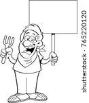 black and white illustration of ... | Shutterstock .eps vector #765220120