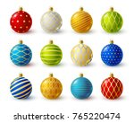set of color christmas balls... | Shutterstock .eps vector #765220474