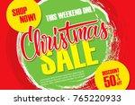 christmas sale discount banner...   Shutterstock .eps vector #765220933