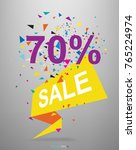 70  paper banner tag for... | Shutterstock .eps vector #765224974
